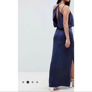 ASOS Dresses - BNWT ASOS petite drape front maxi dress navy